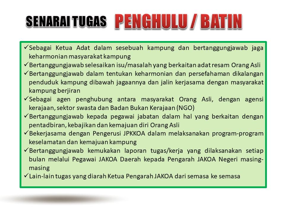 Info for Farizal Batin JKKKOA