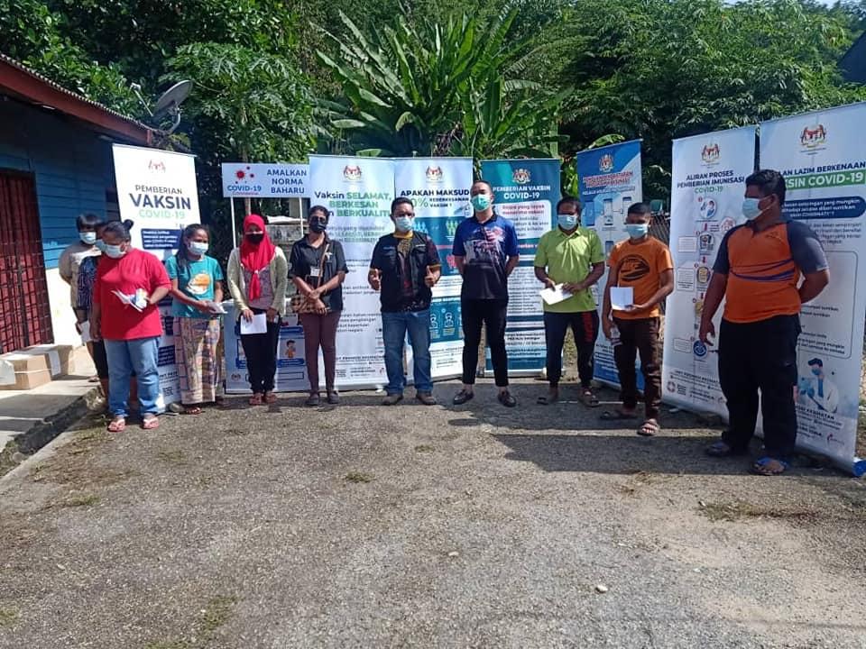 Program Kempen Kesedaran dan Pendaftaran Vaksinasi Covid-19 Bersama Masyarakat Orang Asli Peringkat Daerah Hulu Selangor